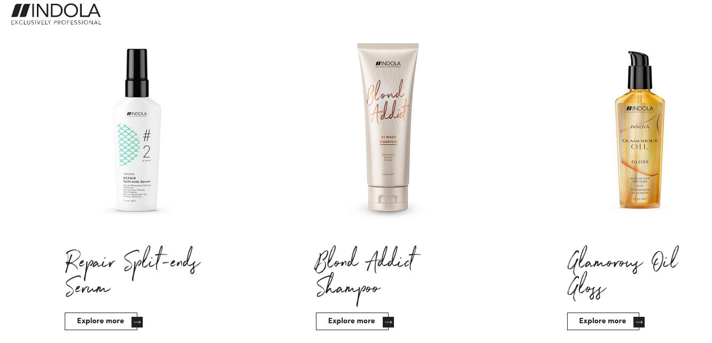 Indola Producten Gloss en Shampoo