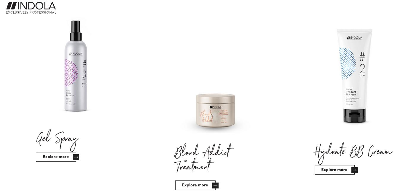Indola Producten Spray en Cream
